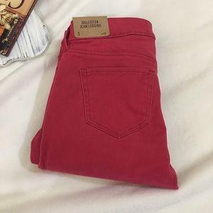 Hollister Jean legging w/raw hem size 1